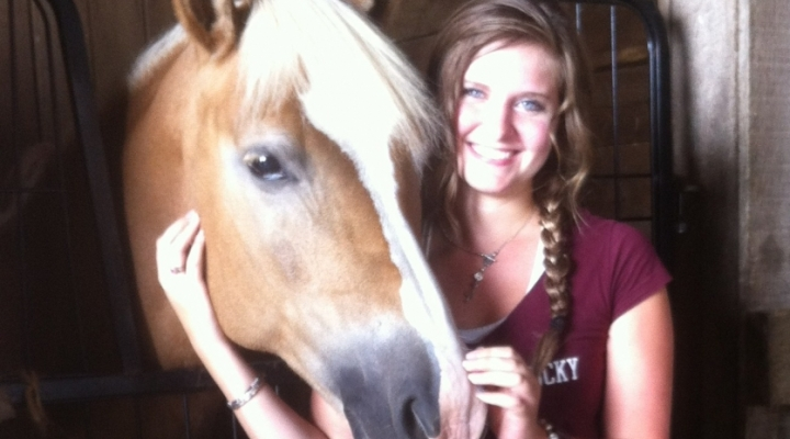 MSOT Student with Horse at CKRH