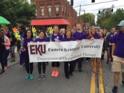 Our students are pictured walking to end Alzheimer in Lexington KY.