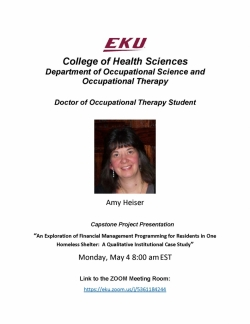 Amy Heiser Capstone Flyer