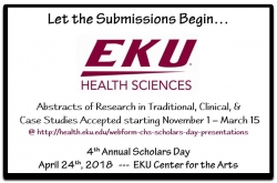 2018 Scholars Day Submission Announcement