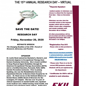 2020 Research Day Flyer
