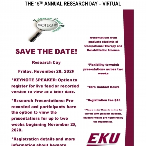 15th Annual Research Day-Save the Date