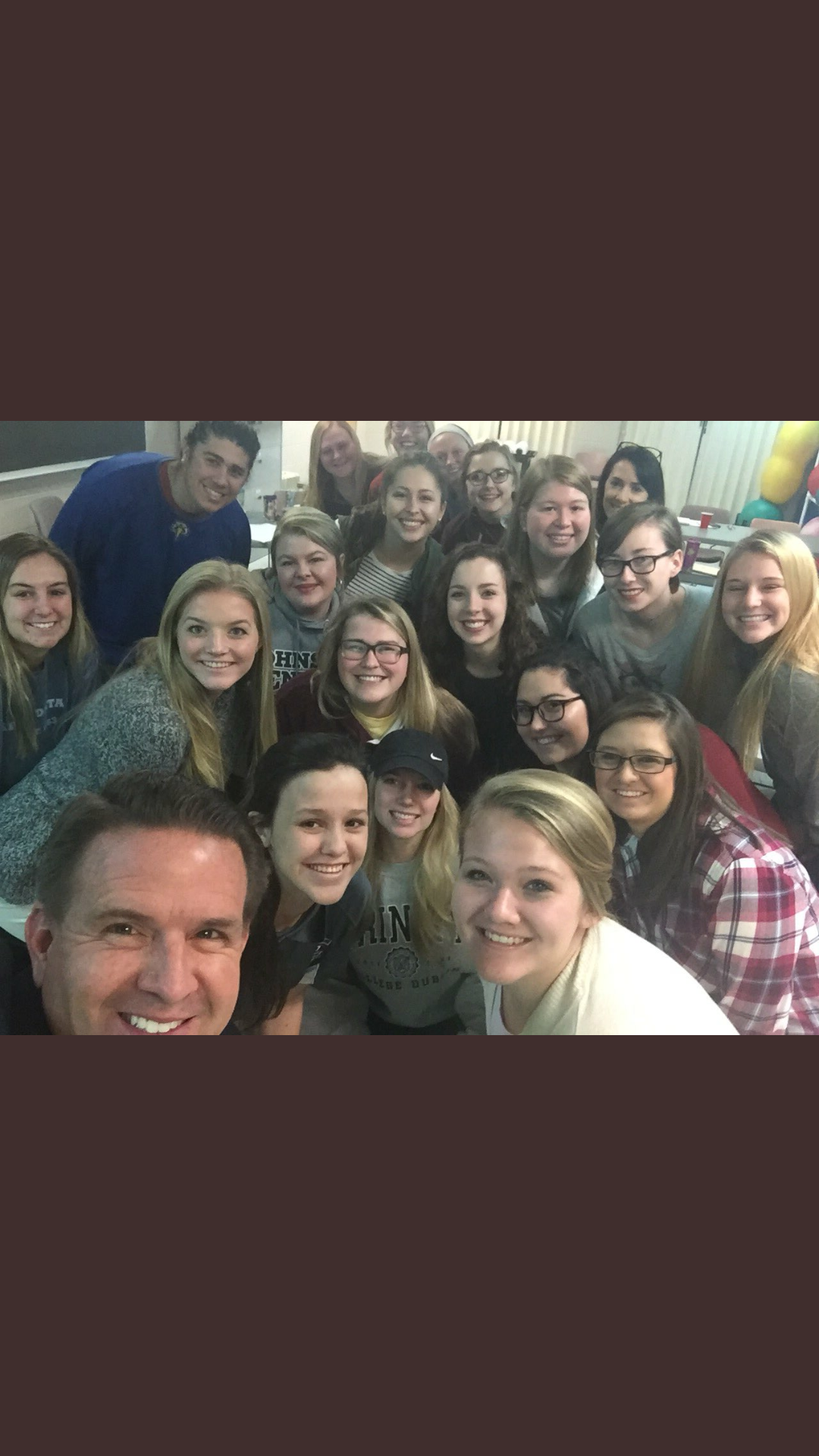 President Benson Selfie with OTS 301 Students