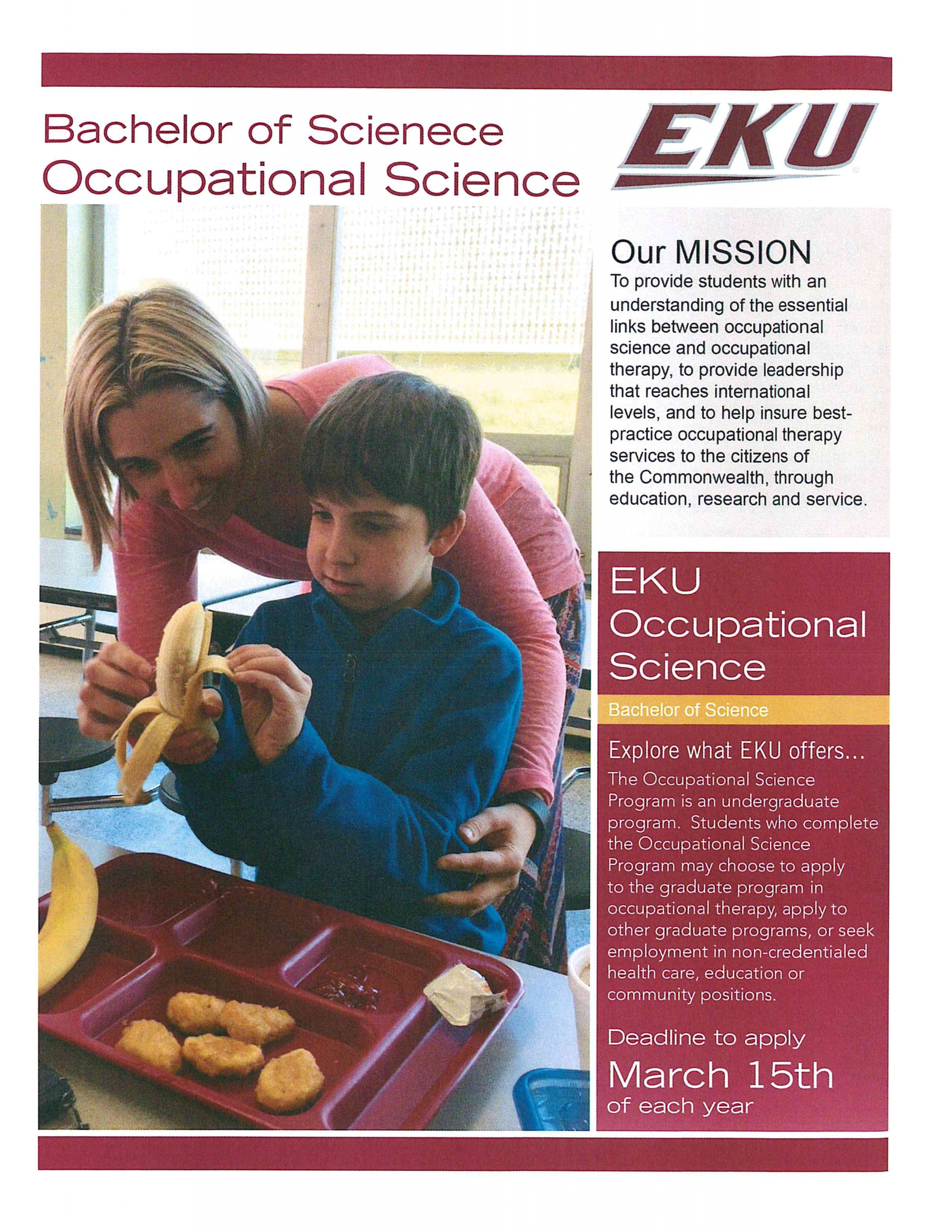 bs in occupational science program occupational therapy bs in occupational science program